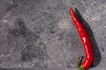 Canvas Prints Hot chili peppers red hot pepper on stone background