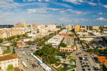 Wall Mural - Aerial drone footage Coral Gables FL circa 2019