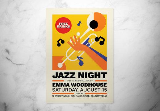 Jazz Night Event Flyer Layout