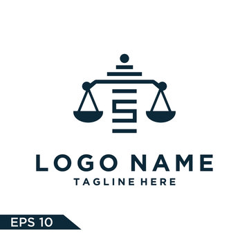 Logo design law Inspiration for companies from the initial letters logo S icon