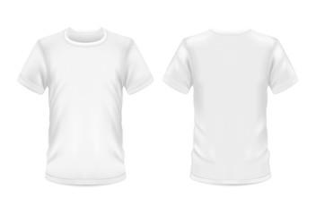 Wall Mural - White t-shirt 3d blank sportswear model mockup