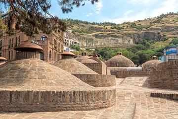 Stone domes of the sulphur baths in Abanotubani district, Tbilisi