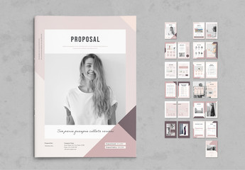 Purple and Pink Proposal Layout