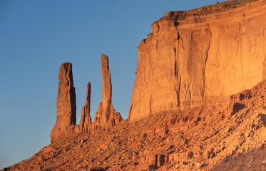 Totem Pole, Monument Valley, Arizona–Utah border, in a Navajo Nation Reservation. USA