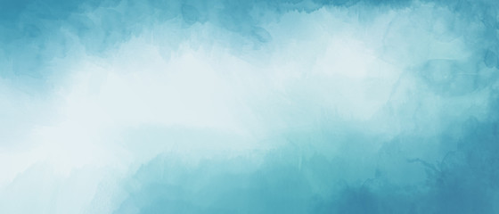 Abstract light blue watercolor background with space for text or image Fotomurales