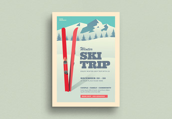 Ski Trip Flyer Layout