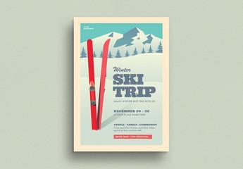 Ski Trip Flyer Layout