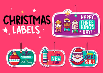 Christmas labels and Three Kings day