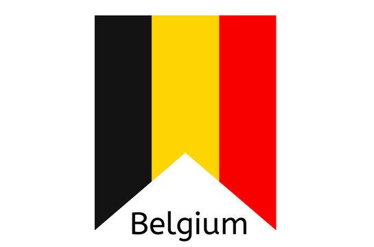 Belgian flag icon, Belgium country flag vector illustration