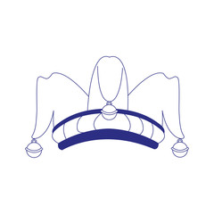 jester hat icon, flat design