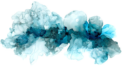 Hand painted ink texture. Abstract background