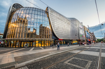 Katowice, Poland - July 3, 2016: Building of Katowice Gallery commercial centre in Katowice city