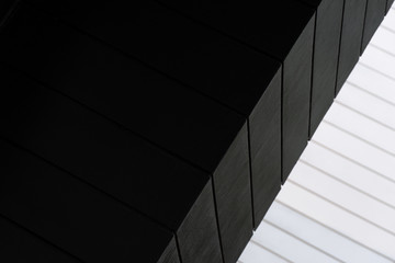 white and black line of architecture background Fotobehang
