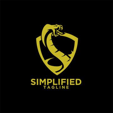 cobra gold snake logo icon design vector illustration