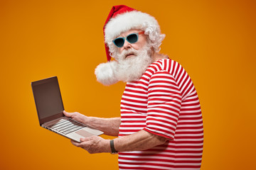 advanced Santa with laptop