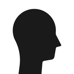 Simple black head silhouette