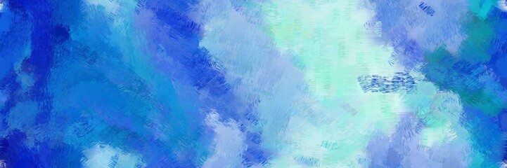creative design painting with royal blue, pale turquoise and sky blue color