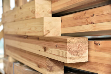 Timber to be used in the site of wooden housing construction