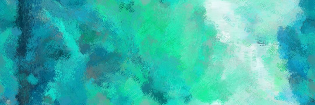 beautiful illustration drawing with light sea green, powder blue and teal color