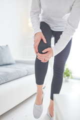 Physical injury of leg / knee / joint at home.