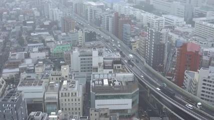 Wall Mural - 都市風景 東京 雨天