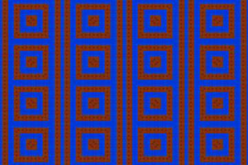 Blue and red African fabric