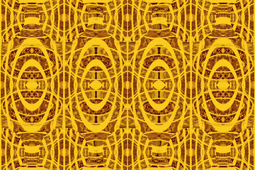 African pattern with colored shapes and curves