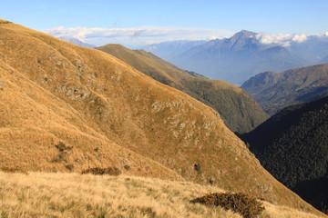 Zauberhafte Alpenlandschaft; Blick zum Monte Legnone