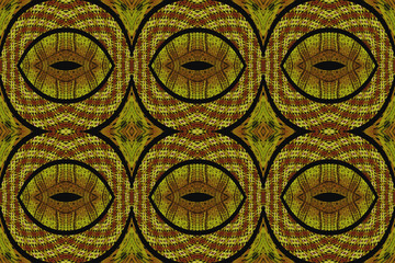 Multicolored ethnic fabric with rounded shapes