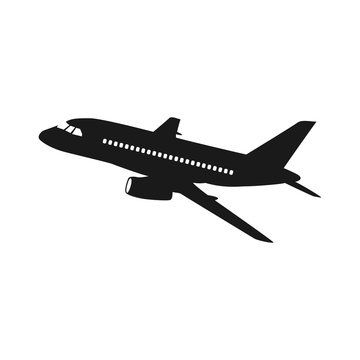 airplanes vector icon on white background, airplane vector Illustration