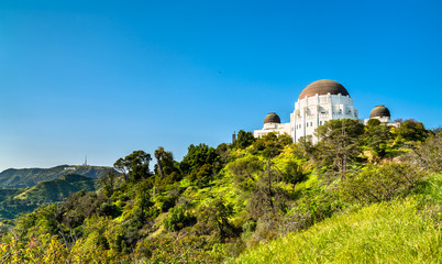 The Griffith Observatory on Mount Hollywood in Los Angeles, California