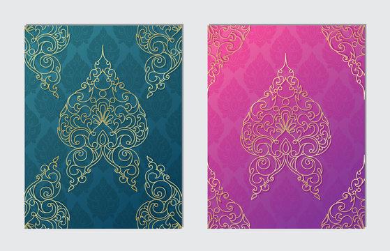 Thai Art Background, Thai art pattern vector