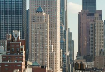 Manhatan High-rise Buildings In New York, USA