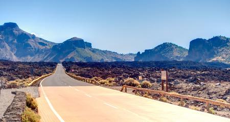 Volcanic landscape in Teide National Park