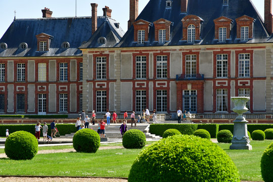 Choisel, France - may 6 2018 : Breteuil castle