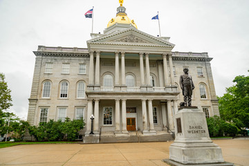 New Hampshire State House capitol building in Concord