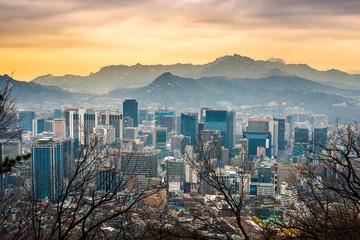 Aluminium Prints Seoul Seoul, South Korea Cityscape