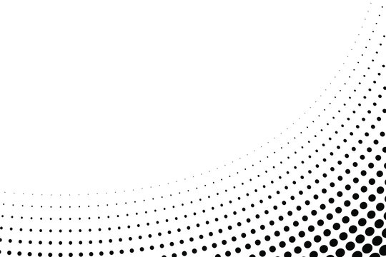 Halftone abstract dotted wave background. Twisted pattern, dot, circle. Texture for posters, sites, business cards, postcards, invitation card, labels and banners. Vector EPS 10.