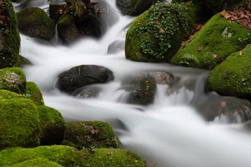 Wasserfälle im Santuario de Nossa Senhora da Abadia