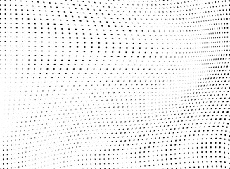 Monochrome chaotic half-tone texture. Vector black and white background of dots