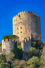 Rumelian Castle on the European banks of the Bosphorus in Istanbul, Turkey