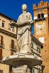 Fountain of Our Lady Verona in Piazza delle Erbe at Verona, Italy