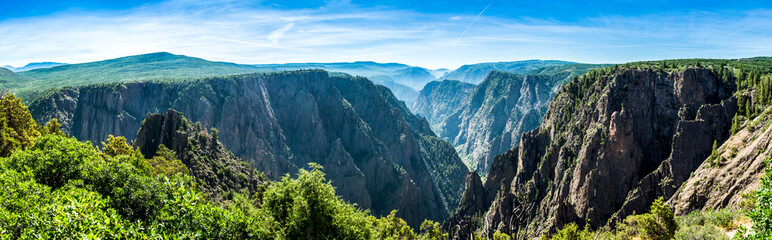 panoramic picture of the black gunnison national park in summer