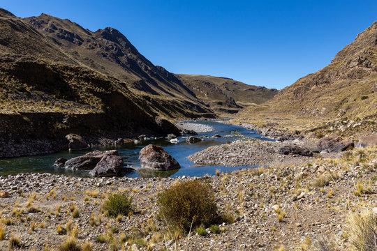 Colca river valley, near the town of Sibayo. Peru.