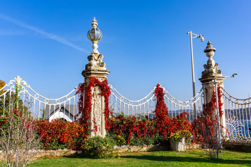 Decorative fence of Dolmabahce Palace in Istanbul, Turkey