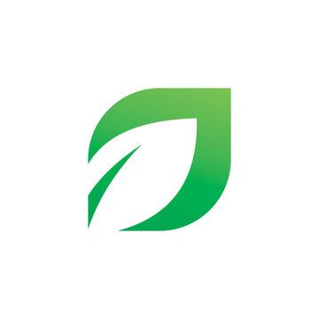 nature modern leaf logo design