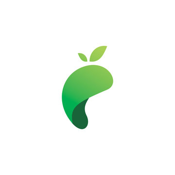 mango color fruit logo design