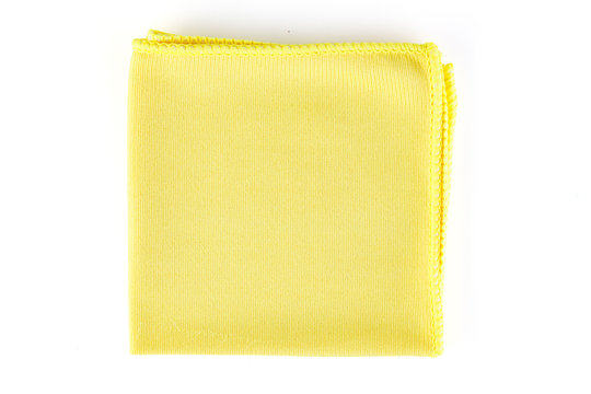 Colorful cleaning rag microfiber cloth. Microfiber cloth for cleaning isolated on white background . Top view.