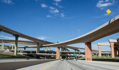 Photo sur Aluminium Texas Dallas Highway