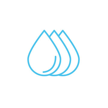 water drops line style icon